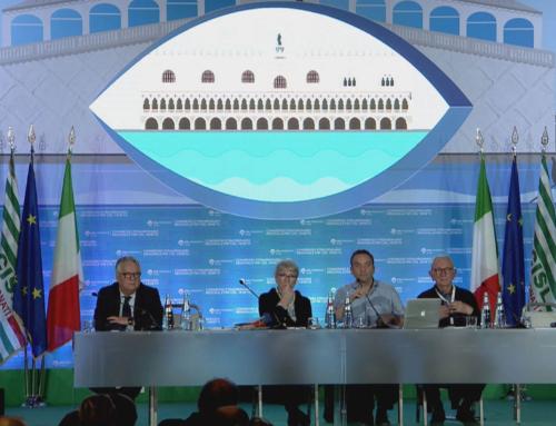 Audiovisual and led screen for FNP Pensionati Veneto event