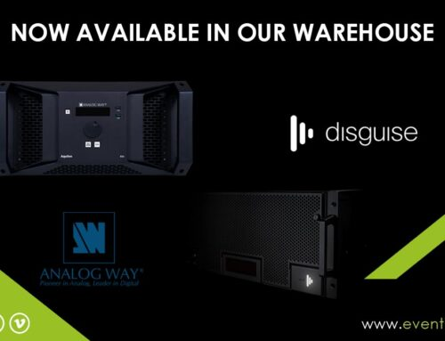"Disguise ""D3"" and Analog Way ""Aquilon RS4"" now available in our warehouse"